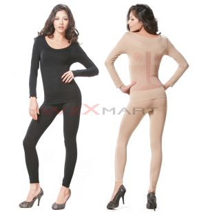 Long Sleeves Slimming Body Shaper Suit Stretch Long Johns