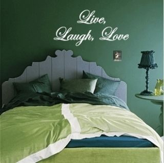 Live Laugh Love Vinyl Wall Art Decals Quote Home Decor