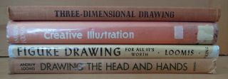 Lot Andrew Loomis Books Hardcover 1st Editions Drawing Art Education