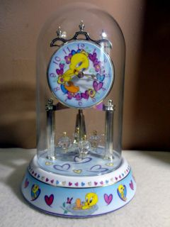 Looney Tunes Tweety Bird Anniversary Clock 9 1 2 High