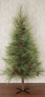 Long Needle Pine 5 Foot Artificial Tree Christmas Primitive