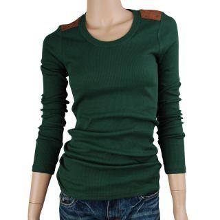 FreeShipping Women Point Basic Long sleeve Elastic T shirt BB 068