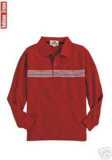 Long Sleeve Polo Shirt Red