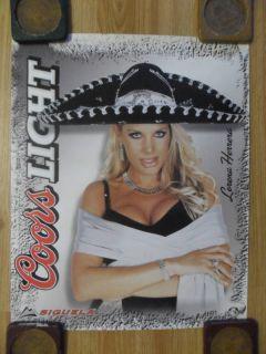 Sexy Girl Beer Poster Coors Lorena Herrera Sombrero