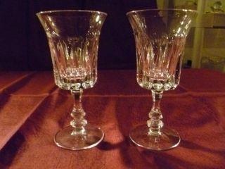 Gorham Crystal de Medici Pattern Wine Glasses 10 Each