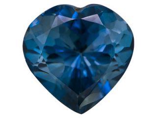 9x9mm Heart Shape London Blue Natural Topaz Loose Gemstone JTV