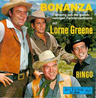 Single Lorne Greene Bonanza Ringo 1968 Mint Germany PS Bonanza