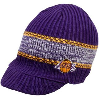 Los Angeles Lakers Visor Knit Beanie Hat Cap Adidas Team Colors
