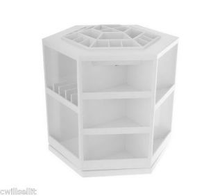 Tabletop Spinning Cosmetic Organizer by Lori Greiner White
