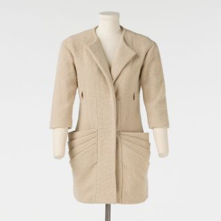 Kim Kardashian Loeffler Randall Off White Coat Size 0