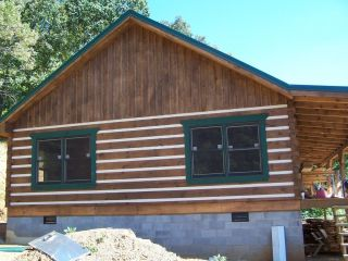 Log Home Package Kit 30 x 50 One Level Logs Porch and Roof System $