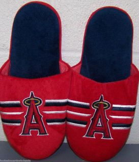 Anaheim Angels of Los Angeles MLB Big Logo Mens Slippers