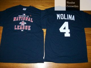 Cardinals Yadier Molina All Star Prop Jersey Shirt XL