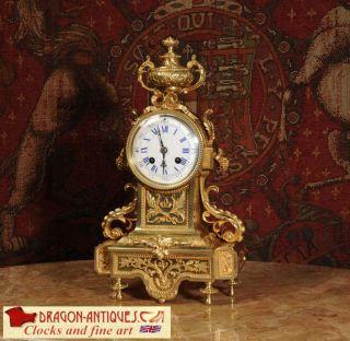 CLASSICAL LOUIS XVI ORMOLU ANTIQUE FRENCH BOUDOIR TABLE CLOCK A D