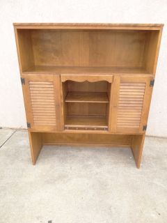 Ethan Allen louver door nutmeg room plan crp book shelf hutch top