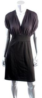 Love ady Womens Plus Size Black and Charcoal Stripe Dress Sz 1x
