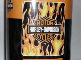HARLEY DAVIDSON FLEECE BLANKET THROW ORANGE FLAMES ON BLACK BACKGROUND
