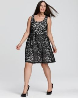 love ady NEW Black Ivory Shimmer Lace Overlay Scoopneck Cocktail Dress