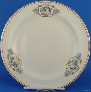 Salem China Century People Man Woman Dinner Plate