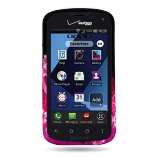 Purple Love Hard Phone Snap on Cover Case for Verizon Pantech Marauder