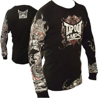 Thermal Gargoyle MPS UFC MMA Cage Fighter Long Sleeve Tee Black