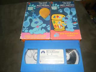Blues Clues Blues Birthday ABCs and 123s Blues Big Musical Movie VHS