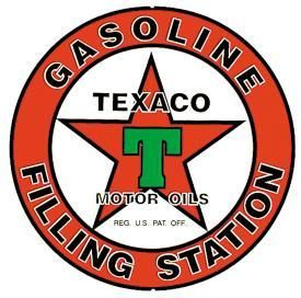Gas Ad Tin Sign Texaco Motor Oil Advertizing Vintage Service Station