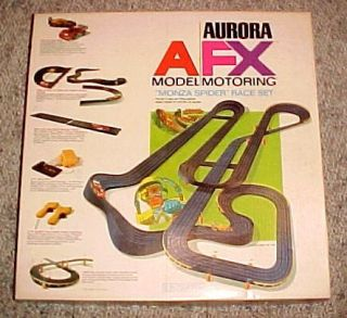 Aurora A FX Model Motoring HO Slot Car Race Set Monza Spider in Box