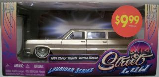 Gold 1 24 Jada 1964 64 Chevy Impala Station Wagon Lowrider Series