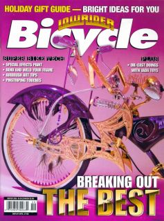 LOWRIDER MAGAZINE BICYCLE 2005 WINTER GIFT GUIDE TOP BIKES MODELS TECH