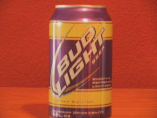 Limited Edition Bud Light Fan Can Purple Gold LSU Colors 12 oz Can