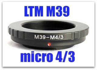 M39 LTM LSM Leica Screw to Micro 4 3 M4 3 M43 Mount Adapter GX1 EP3