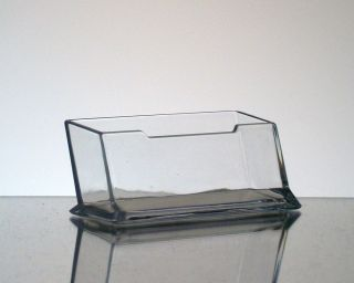 12 Clear Acrylic Plastic Desktop Business Card Holders Display Stands