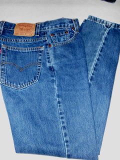 Womens jeans Levis 550 relaxed fit tapered leg sz 8M Mis 30L dark wash