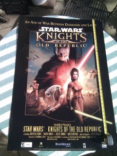 Wars Knights of The Old Republic LucasArts Large Promo Poster