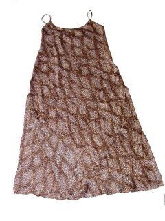 Luscious Dolce Gabbana Animal Print Leopard Silk Slip Nightie Dress
