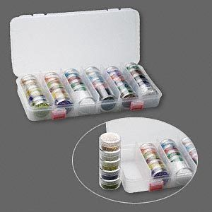 Seed Bead Starter Set Clear Plastic Case 28 Containers