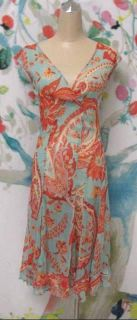 BLUMARINE Silk Floral Print Dress Size 4