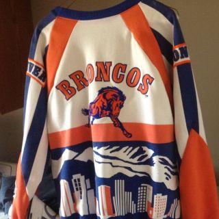 Mens Denver Broncos sweat Shirt Vintage Great Shape