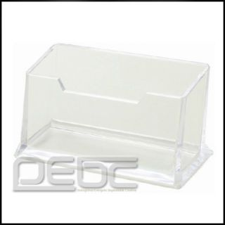 Clear Acrylic Business Card Holder Display Stand Desk Desktop
