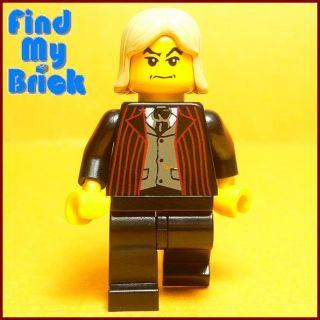 HP331 Lego Lucius Malfoy Minifigure Suit Front Vest New