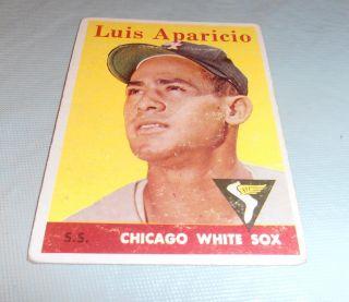 1958 Topps Luis Aparicio 85 Poor Chicago White Sox