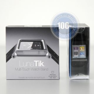 LunaTik Watch Band Strap for iPod Nano 6g Blackout New