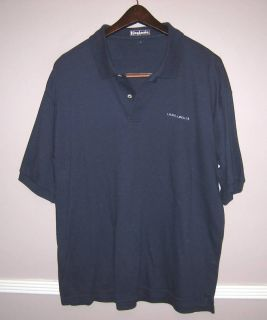 Mens King Louie Blue Polo Golf Shirt Size L