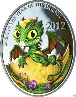 Dragon Baby Lunar Calendar Series Niue Island 1 NZD Silver Coin
