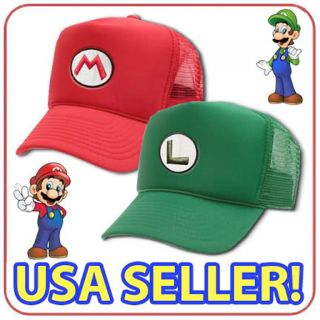 NEW NINTENDO SUPER MARIO AND LUIGI MESH CAP COSPLAY HALLOWEEN COSTUME