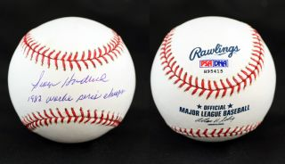 George Hendrick Signed ROMLB Baseball St Louis Cardinals PSA DNA