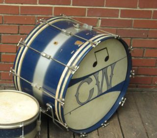 1950s WFL Ludwig Drums Duco Finish Vintage 14x22 Bass Drum