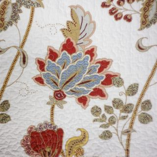 LOUISBURG 3pc FULL QUEEN QUILT SET *NEW* FLORAL JACOBEAN VINE RED BLUE