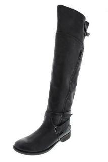 Luxury Rebel NEW Luma Black Leather Block Heel Over The Knee Boots